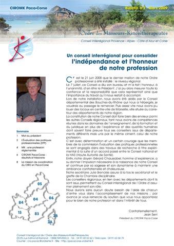 Bulletin mars 2009